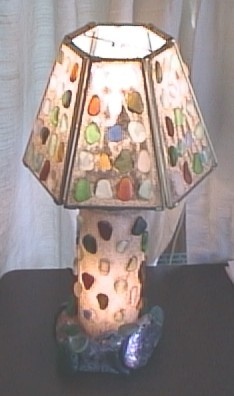 Genuine Sea Glass Jewelry by Capt Cass. Sea Glass Lamps Page.